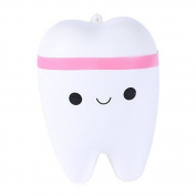Generic Teeth Squishies Kawaii Tooth Squishy Slow Rising Stress Toy for Play 1 Piece Pink
