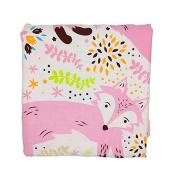 Fox Newborn Baby Bassinet Soft Swaddle Warm Blankets Stripe Polar Fleece Sleeping