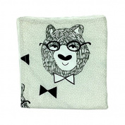 Bear Newborn-Baby-Bassinet-Soft-Swaddle-Warm-Blankets-Stripe-Polar-Fleece-Sleeping