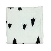 Trees Newborn-Baby-Bassinet-Soft-Swaddle-Warm-Blankets-Stripe-Polar-Fleece-Sleeping