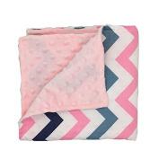 Colourful stripes Newborn-Baby-Bassinet-Soft-Swaddle-Warm-Blankets-Stripe-Polar-Fleece-Sleeping