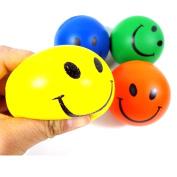 NOMENI 1 PC Mini Neon Smile Face Relaxable Balls