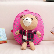 Hot pink plaid Mini-Cute-Kids-Safety-Harness-Backpack-Bag-Baby-Anti-lost-Walking-Helper-Kid