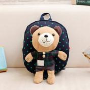 Dark blue plaid Mini-Cute-Kids-Safety-Harness-Backpack-Bag-Baby-Anti-lost-Walking-Helper-Kid