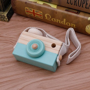 Green Wooden Toy Camera Kids Creative Neck Hanging Rope Toy Photography Prop Gift