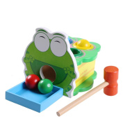 Sealive 1 Pack Colourful Wooden Cartoon Animal Frog Vomit Balls Game Baby Kids Percussion Toys Knock Toy Family Games Puzzle Educational Toy