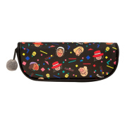 E-Bestar Cute Cartoon PU Leather Pencil Case Cosmetic Makeup Bag Pouch Large Capacity Travel Storage