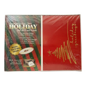 """Personalised """"Holiday Greetings"""" Ink Jet Laser Cards 35 w/ Envelopes"""