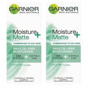 Garnier Moisture+ Skin Naturals Matte Daily Oil Free Moisturiser, 50ml
