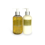 Uplifting hand & body wash/lotion duo - Geranium, Mandarin and Spearmint