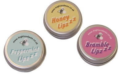 Highland Wax Company Beeswax Lip Balm Pack (3 x 9g)