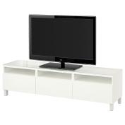 IKEA BESTA - TV bench with drawers Lappviken white