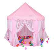 Children Play Tent - BESUNTEK Pop Up Princess Castle Playhouse for Boys, Girls, Toddlers, Indoor Outdoor Use