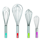 Tovolo Stainless Steel Whisks (Set of 4), Stainless Steel