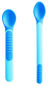MAM Heat Sensitive Feeding Spoons and Cover, Blue