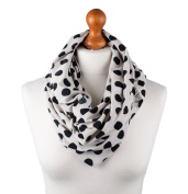 Palm and Pond Nursing Scarf - Cream with Black Spots