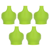 Cadillaps Silicone Elephant Shape Baby Sippy Lids Soft Suction Spill-Proof Sippy Cup for Kids and Toddlers 5 PCS