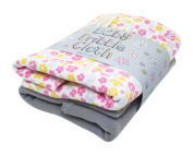 Little Shrimp New-Born Baby Girls Print Dribble Bib and Plain Cloth Set, Ditsy Floral
