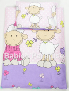 4 Piece Travel Set/Scatter Filled 17-18 Inner & Cover Sheep Pink