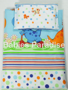 4 Piece Travel Set/Scatter Filled 17-18 Inner & Cover Dino Blue
