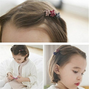 Youji® 50 pcs Women Girl Kids Baby Mini Flower Hair Claw Jaw Clip Hair Pin Hair Accessories Mix Coloured