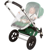 PREMIUM BABY STROLLER MOSQUITO NET by EVEN Naturals, fits most Strollers, Carriers, Car Seats & Cradles, Gift Bag & eBook, Soft Durable Insect Netting Fly Screen Protection 100% Satisfaction Guarantee