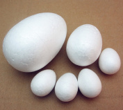Dandan DIY 25pcs Mix Lots Assorted Sizes Smooth Foam Egg Shaped Foam Craft Making Foam Ball Home Party Wedding Decor Diy Supply