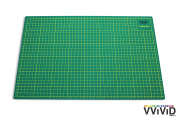 VViViD Reversible Self-Healing Gridded Ruled Green Cutting Mat for Siser, ORACAL, Craft Cutting