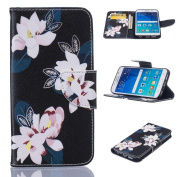 Galaxy S6 Edge Case, Firefish [Kickstand] [Card Slots] PU Leather Wallet Case Magnetic Closure Scratch Resistant Cover Skin for Samsung Galaxy S6 Edge -Flower-A