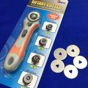 YEQIN Rotary Cutter 28mm plus 5 pcs Rotary Cutter Blades 28mm