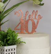 All About Details Copper Hello 40! Cake Topper