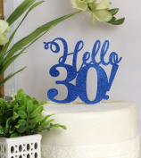 All About Details Blue Hello 30! Cake Topper