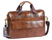 VIDENG POLO Top Genuine Leather Handmade Briefcase Shoulder Messenger Business Bag From Italy Design