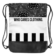 Backpack Who Cares - Funny Drawstring Backpacks Company © Printed Bags 3D Print/Motive/Design One Size Unisex Spring Summer 2017