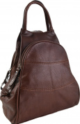 Gianni Conti Fine Italian Leather TAN OR BROWN Medium Shoulder Rucksack Backpack 584849