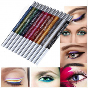 Toraway Portable 12 Colours Eyebrow Glitter Shadow Lip EyeLiner Pencil Pen Cosmetic Makeup Set Kit