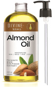 Organic Sweet Almond Oil 470ml for Face Eyes Body Moisturise Anti Ageing Anti Wrinkle Natural Solution