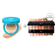 W-Snow Water Cushion 13g #21 (water light) + W.Lab Pocket Eye Shawdow Palette