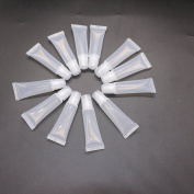 12 pcs Clear 8ml Refill Empty Tubes Containers for DIY Lip Gloss Balm/Cosmetic By IDS