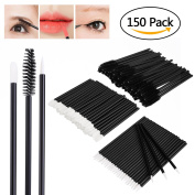 Molain 150PCS Lip Brushes Eyelash Mascara Eyebrow Brushes Eyeliner Disposable Makeup Applicator Tool Kits 3 x 50PCS
