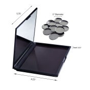 Magnetic Palette for Makeup & Eye Shadow with 12 Metal Pans