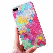 Iphone 7 Plus Case ,Sunvy Bling Glitter Colourful Slim Thin Cover For 5.5 iphone 7 plus With Sparkle cell Phone holder and a Screen Protectoer
