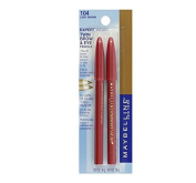 Maybelline New York Expert Wear Twin Brow and Eye Pencils, 104 Light Brown, 0ml + FREE Scunci Black Roller Pins, 18 Pcs