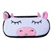 TRENDINAO Lovely Cartoon Cow Pencil Makeup Case Plush Pen Cosmetic Bag For Child & Women & Girls
