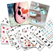 KADS New 26pcs/set Nail Self Adhesive Sticker Nail Art Decals Transfer Nail Art Manicure Sticker Decorations