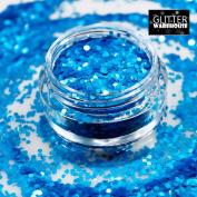 GlitterWarehouse 1MM Chunky Matte Neon Blue Cosmetic Grade Glitter
