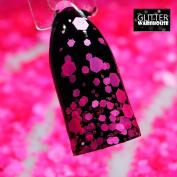 GlitterWarehouse Neon Hot Pink Chunky Matte Cosmetic Grade Glitter Mix