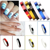 KADS New Arrival 6pcs/set Nail Waves Striping Tape Line DIY Nail 3D Tips Decoration Stickers For Nail Beauty