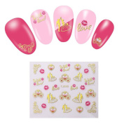 5 Sheets Nail Art Stickers Decals For Nail Tips Decorations