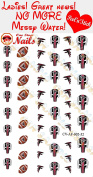 Atlanta Falcons Clear Vinyl PEEL and STICK (NOT Waterslide) nail decals/stickers